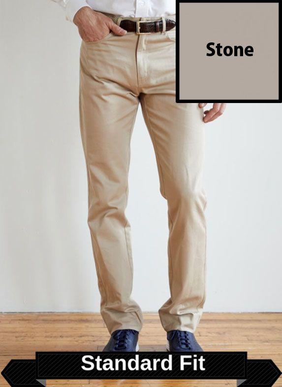 SRFPF2-FVT STN / STONE / Classic Twill Plain Front Standard Fit F2 Color Stone