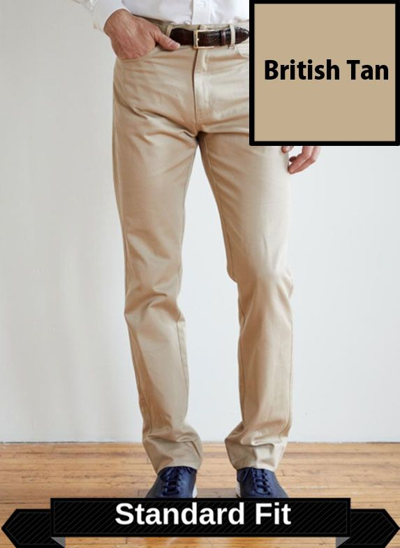 SRFPF2-FVT BT / BRITISH TAN / Classic Twill Flat Front Standard Fit F2 Color British Tan