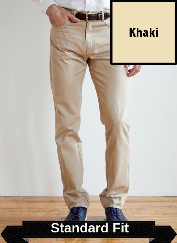 SRFPF3-FVT KH / KHAKI / Classic Twill Flat Front Trim Fit F3 Color Khaki