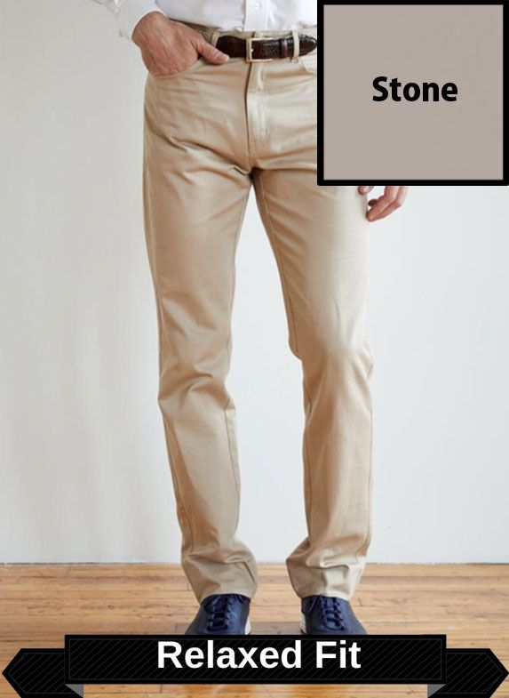 SRFPF1-FVT STN / STONE / Classic Twill Relaxed Fit Flat Front F1 Color Stone