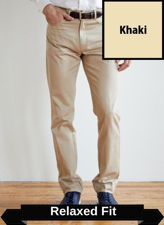 SRFPF1-FVT KH / KHAKI / Classic Twill Relaxed Fit Flat Front F1 Color Stone