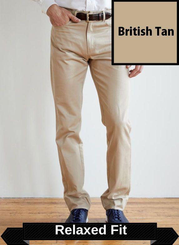 SRFPF1-FVT BT / BRITISH TAN / Classic Twill Relaxed Fit Flat Front F1 Color British Tan