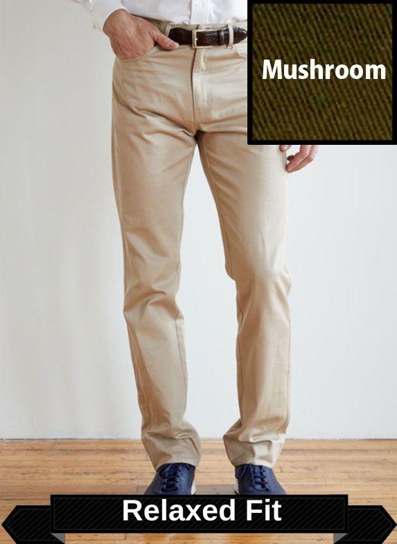 SRFPF1-FVT MSH / MUSHROOM / Classic Twill Relaxed Fit Flat Front F1 Color Mushroom