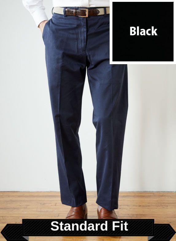 SRFPF2P-FTT BLK / BLACK / Performance Twill Standard Fit Pleated Front F2P Color Black