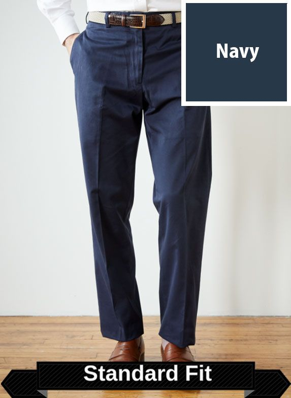 SRFPF2P-FTT NVY / NAVY / Performance Twill Standard Fit Pleated Front F2P Color Navy