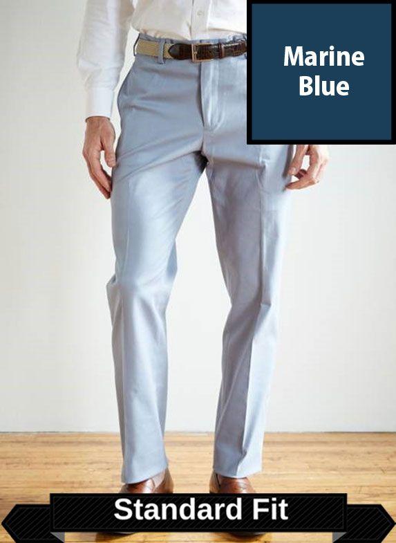 SRFPF2-FFT MB / MARINE BLUE / Franklin Twill Standard Fit Flat Fit Marine Blue F2