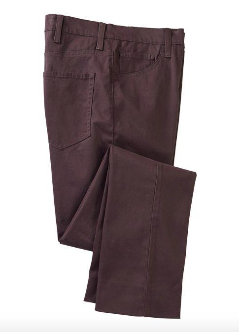 SRFPF5-FBT CV / CORDOVAN / Viceroy Broken Twill Flat Front F5 5 Pocket Pant